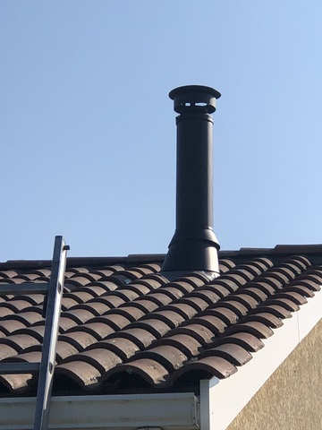 Mise aux normes d'un conduit de cheminée